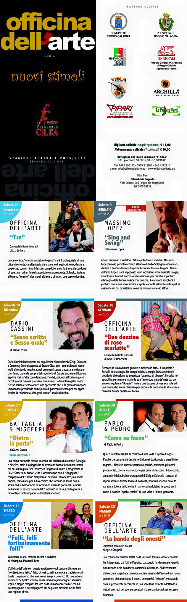 Stagione Teatrale 2015 2016